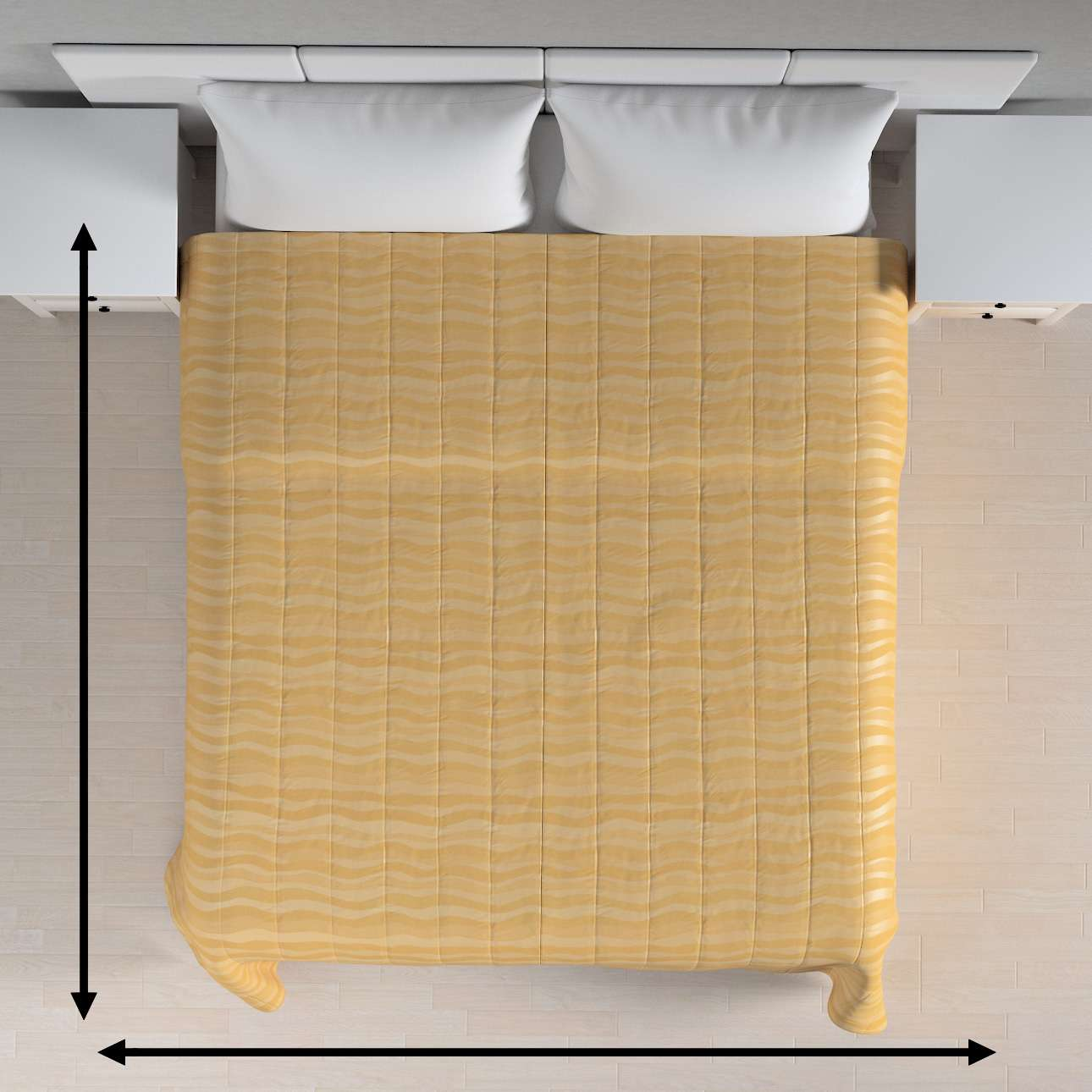 Prehoz na posteľ jednoduchý V kolekcii Damasco, tkanina: 141-74