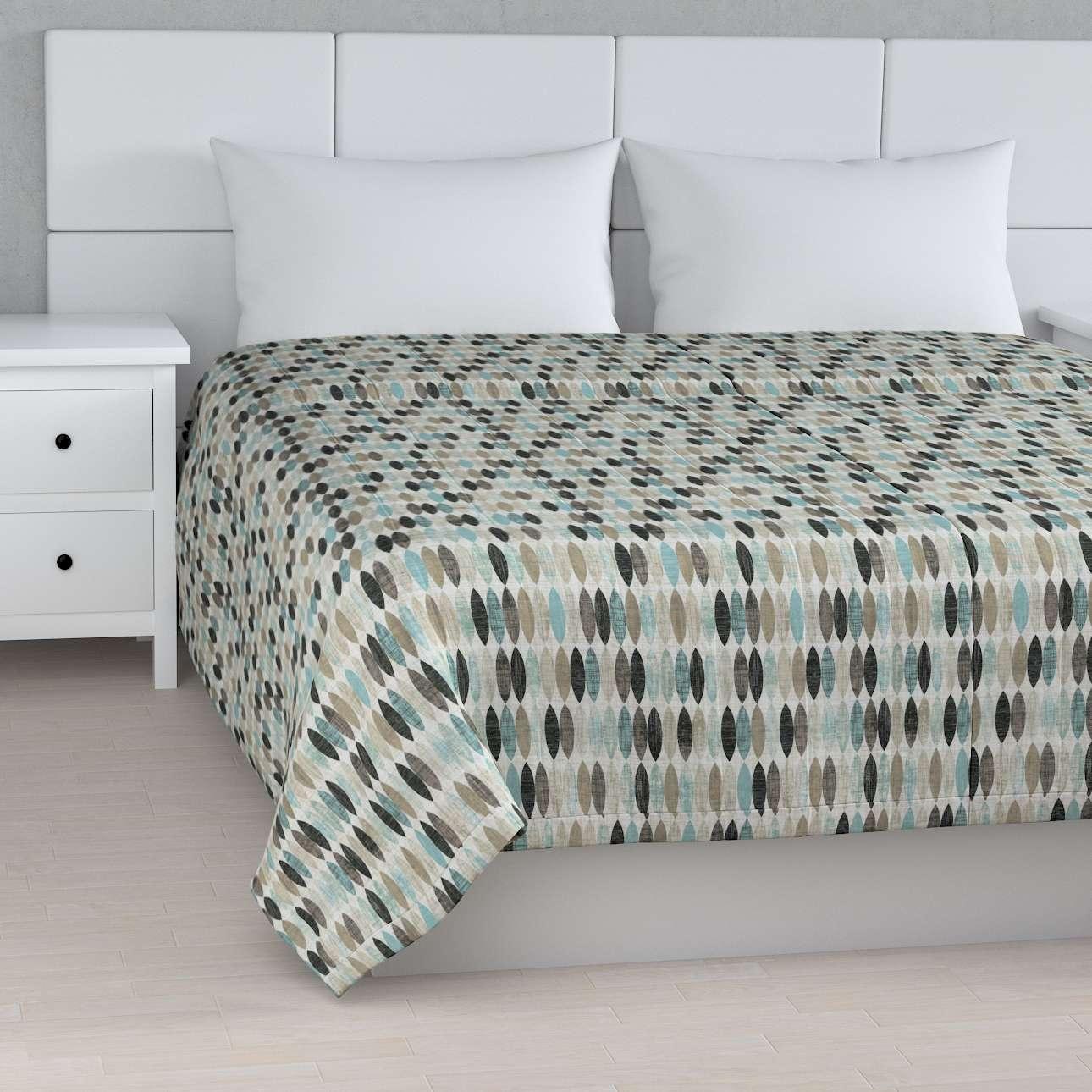 Sengetæppe quiltet<br/>10cm striber fra kollektionen Modern, Stof: 141-91