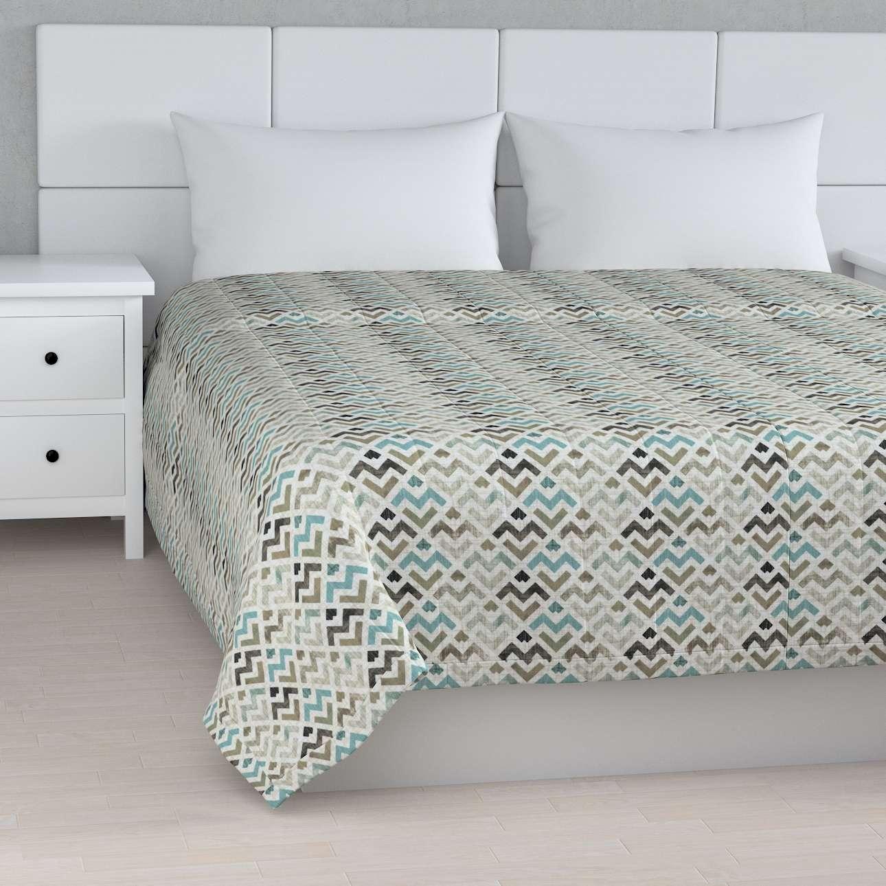 Sengetæppe quiltet<br/>10cm striber fra kollektionen Modern, Stof: 141-93