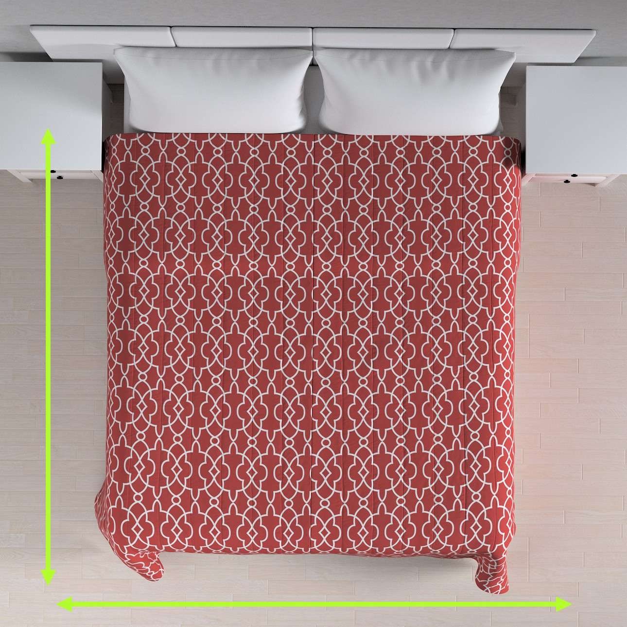 Cuvertura matlasata cu model în colecție Gardenia, țesătură: 142-21