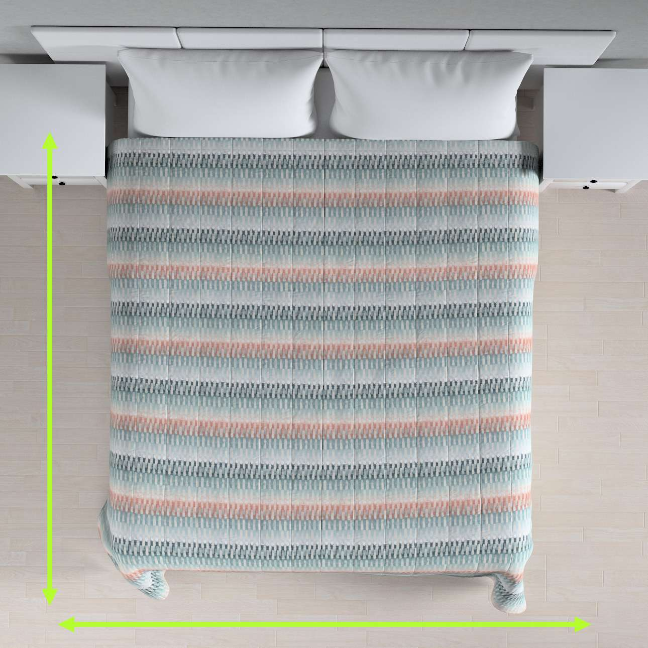 Stripe quilted throw in collection Pastel Forest, fabric: 142-51