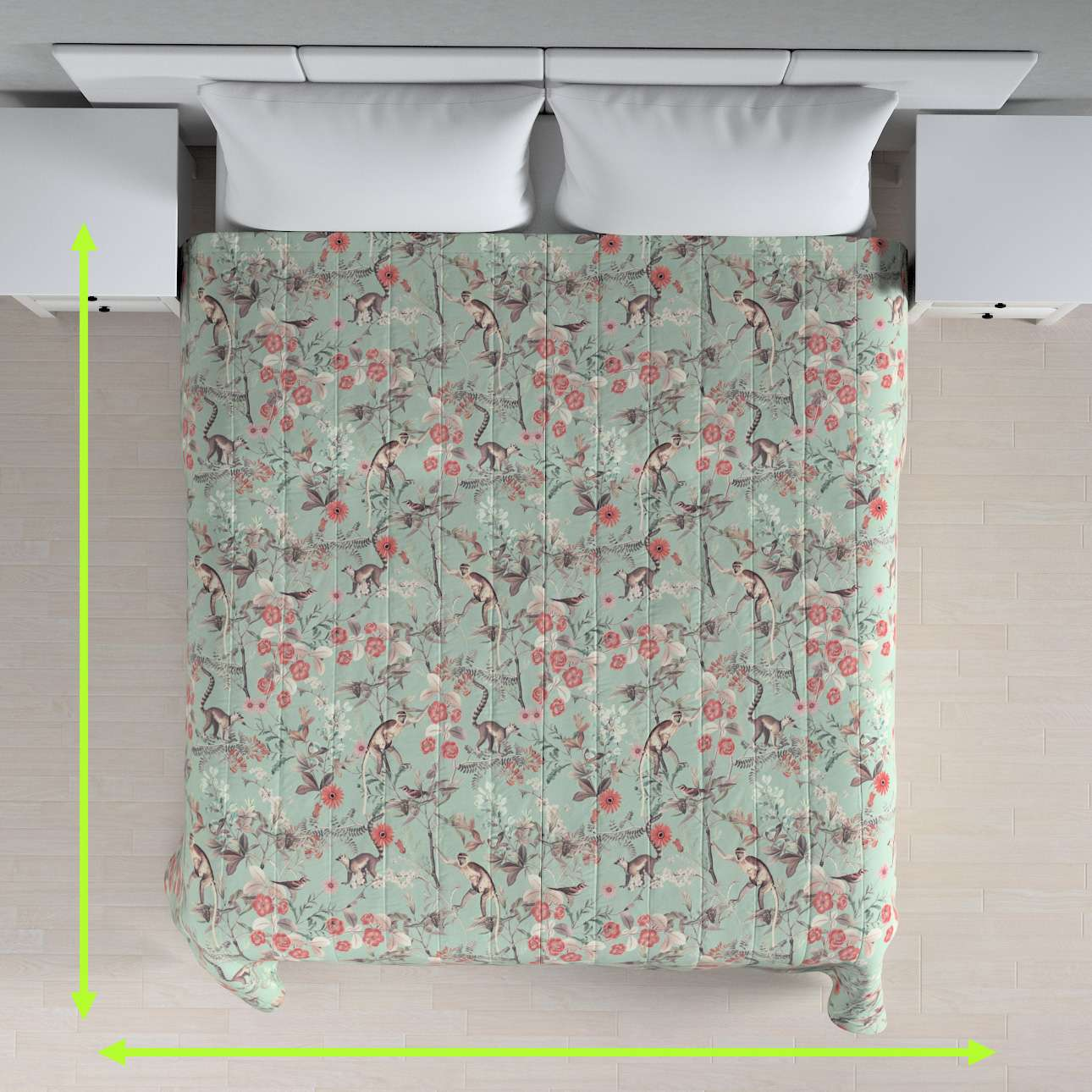 Stripe quilted throw in collection Tropical Island, fabric: 142-62