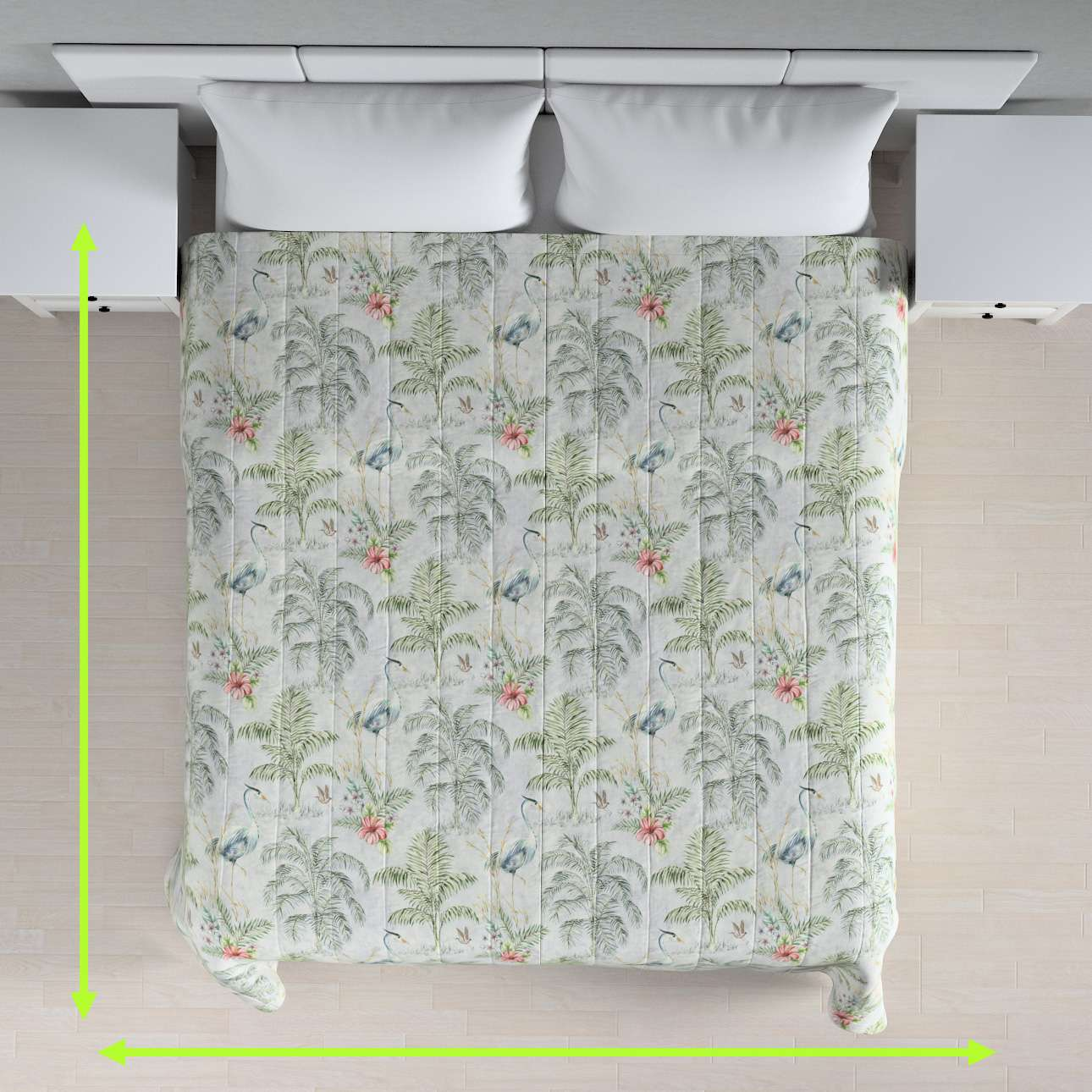 Stripe quilted throw in collection Tropical Island, fabric: 142-58