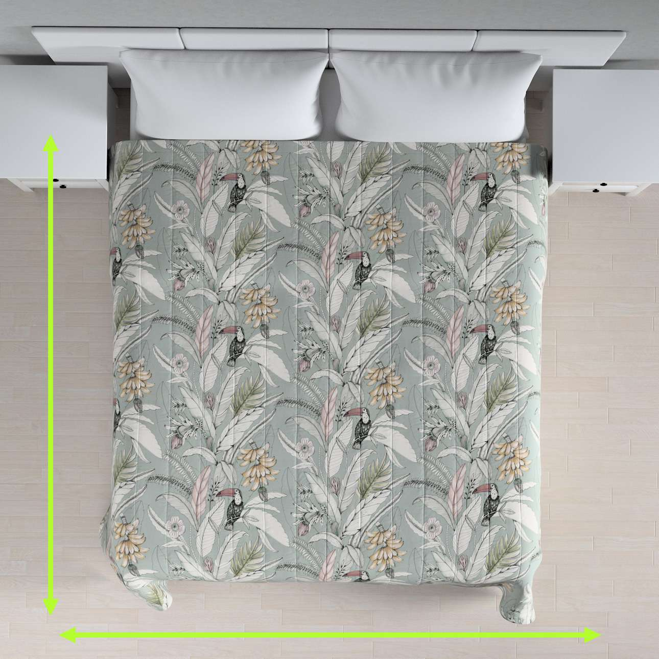 Stripe quilted throw in collection Tropical Island, fabric: 142-64