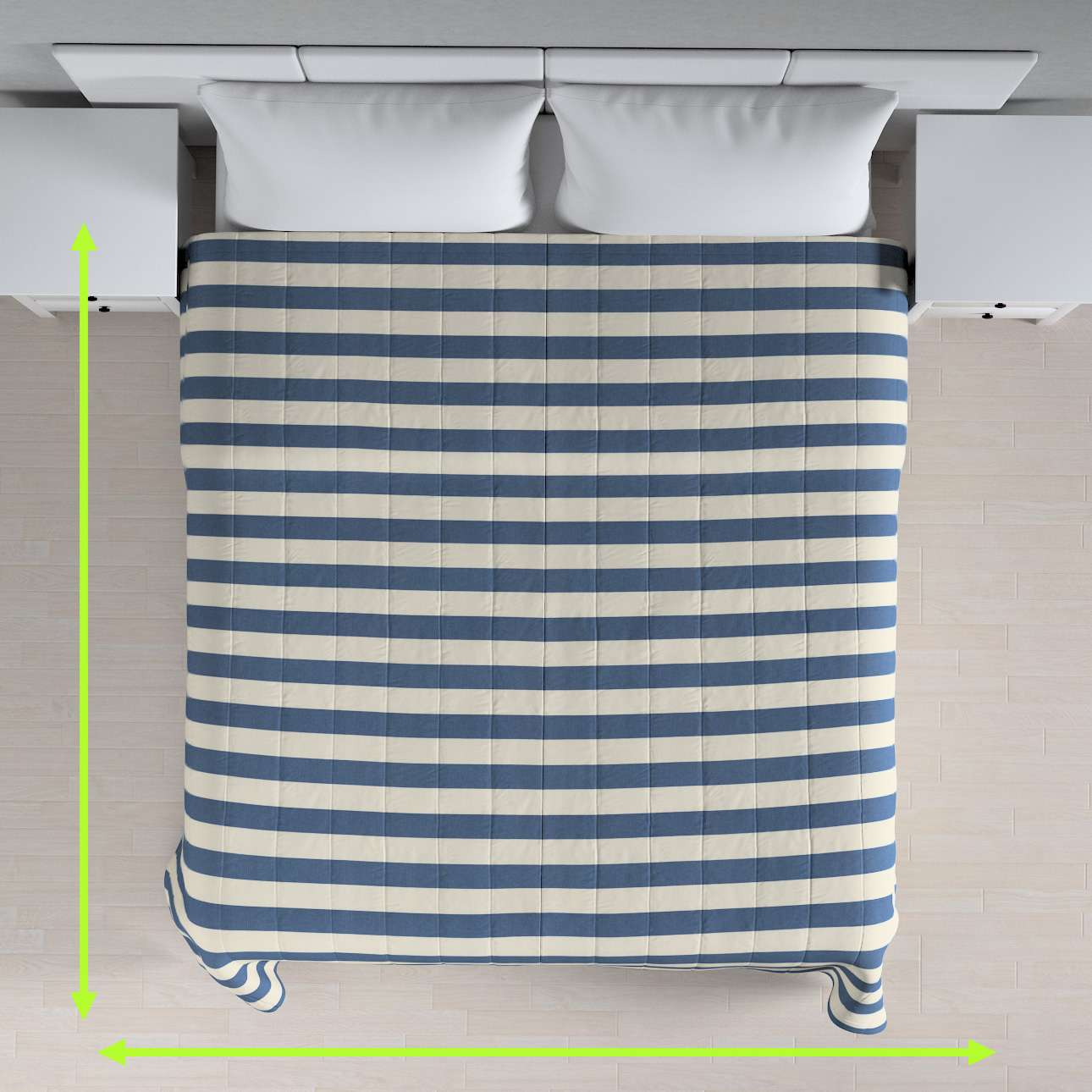 Stripe quilted throw in collection Quadro, fabric: 142-70