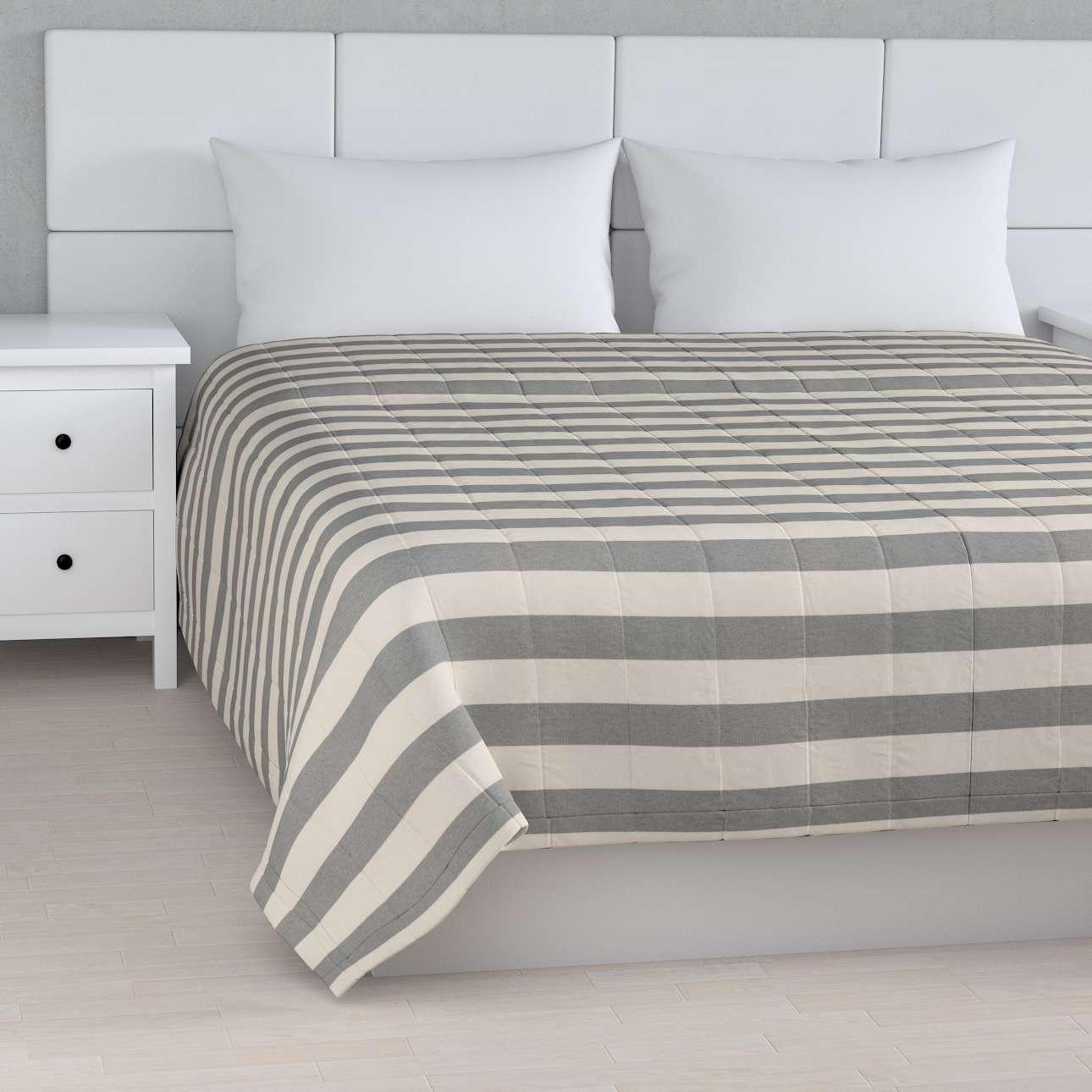 Sengeteppe quiltet<br/>10cm striper fra kolleksjonen Quadro, Stoffets bredde: 142-71