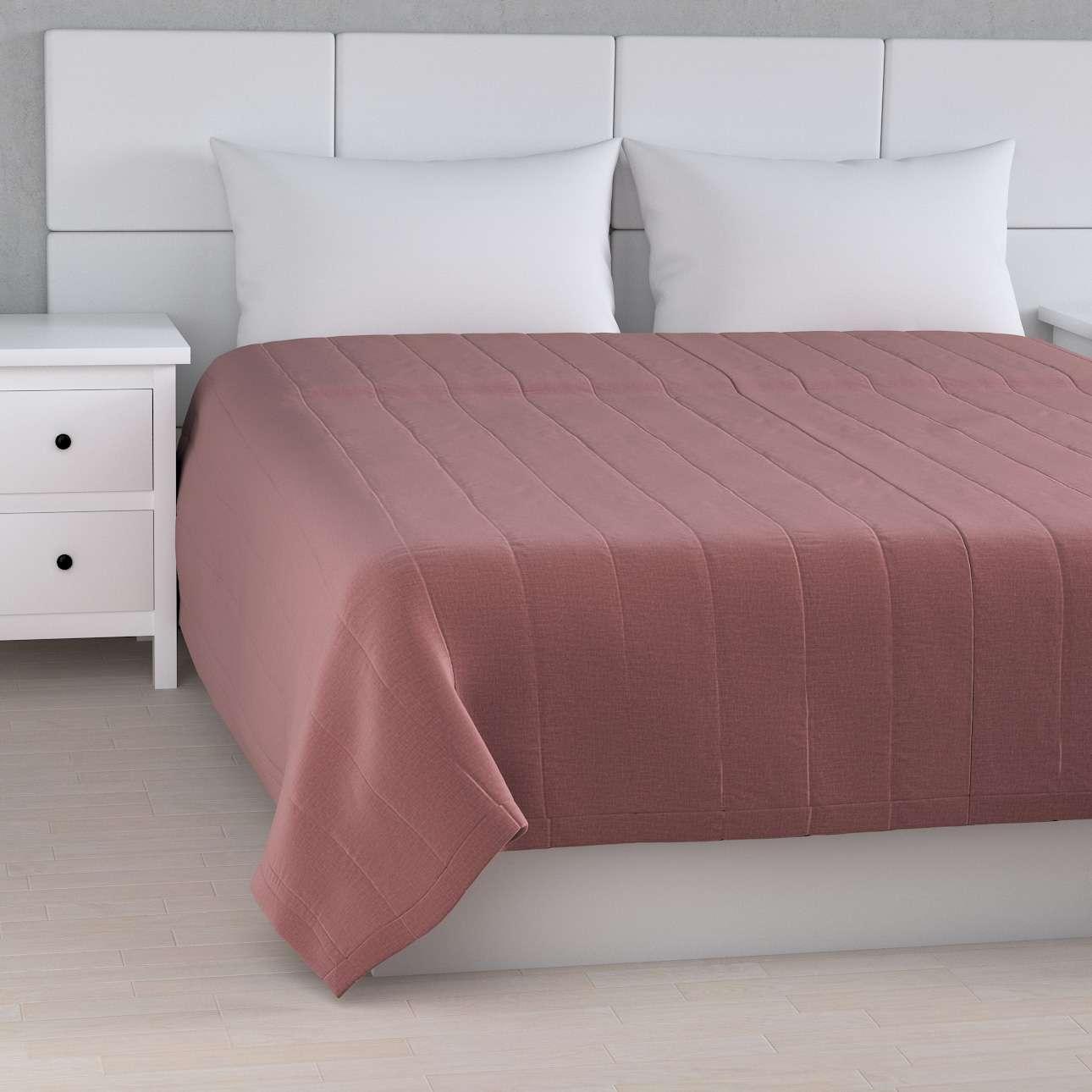 Sengetæppe quiltet<br/>10cm striber fra kollektionen Ingrid, Stof: 705-38