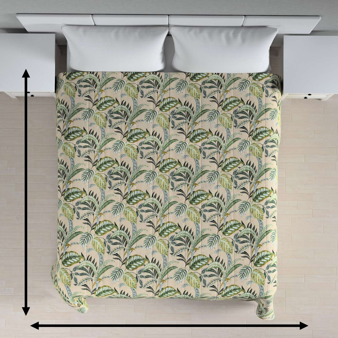 Stripe quilted throw in collection Tropical Island, fabric: 142-96