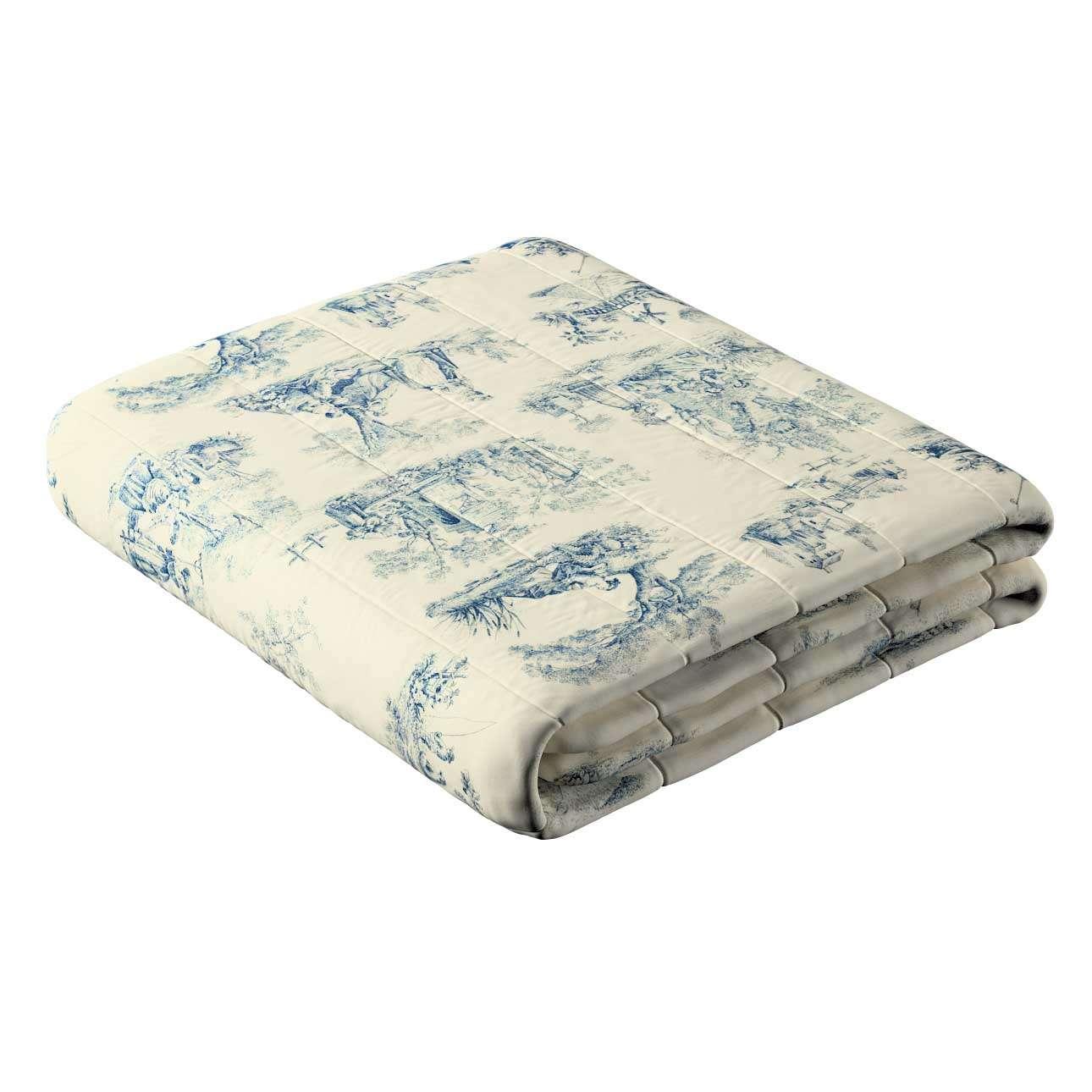 Sengetæppe quiltet<br/>10cm striber fra kollektionen Avinon, Stof: 132-66