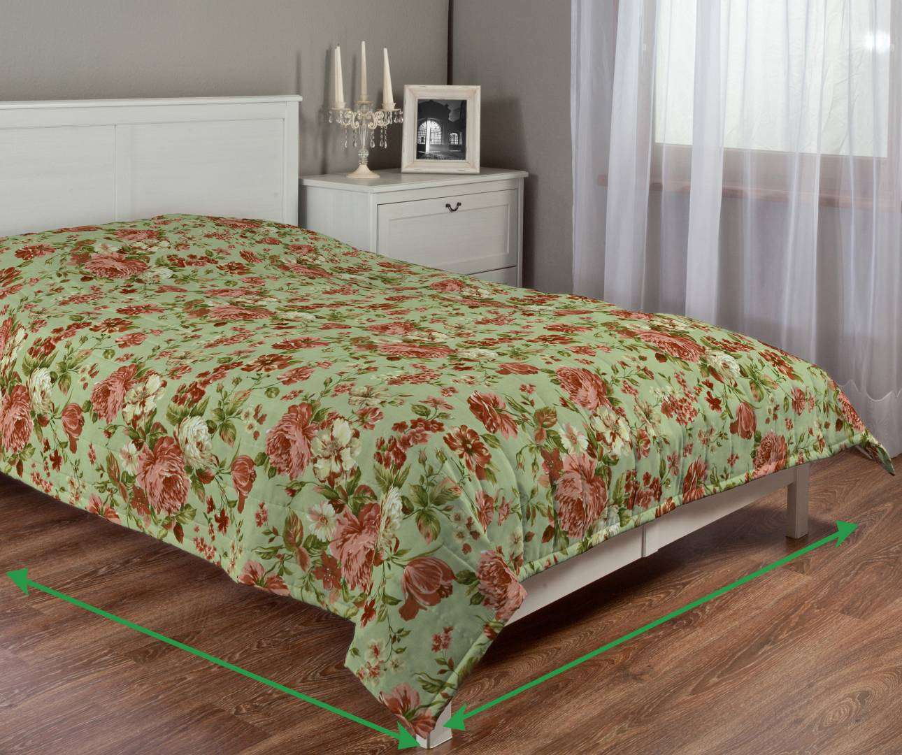 Quilted throw (vertical quilt pattern) in collection Flowers, fabric: 311-06