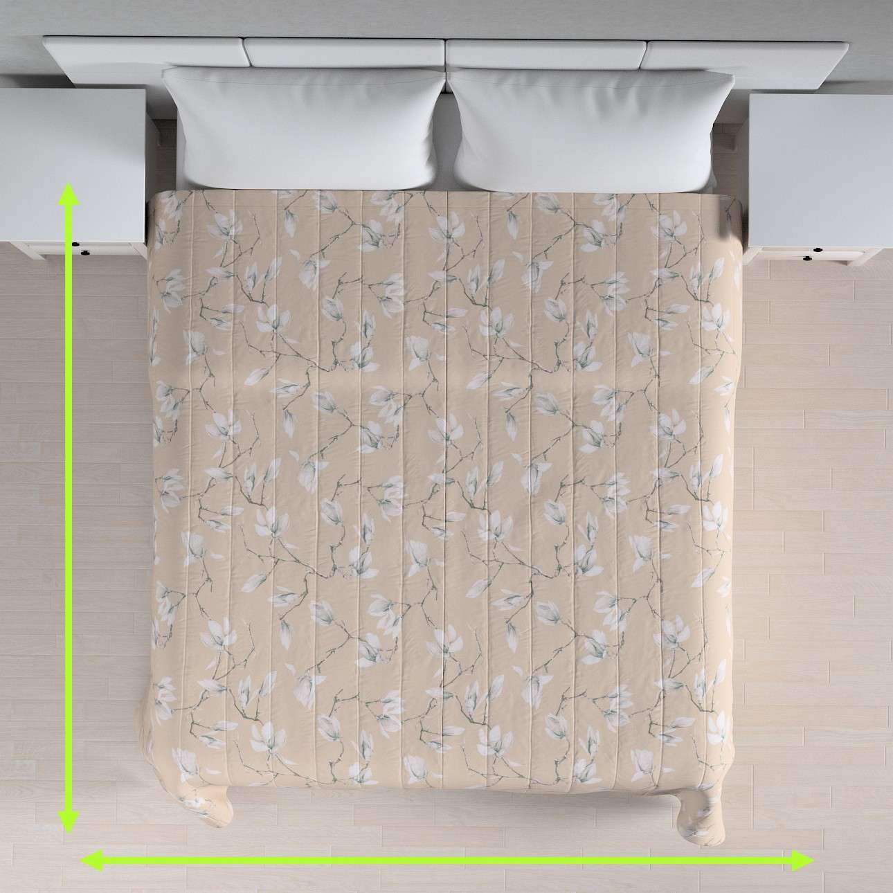 Quilted throw (vertical quilt pattern) in collection Flowers, fabric: 311-12