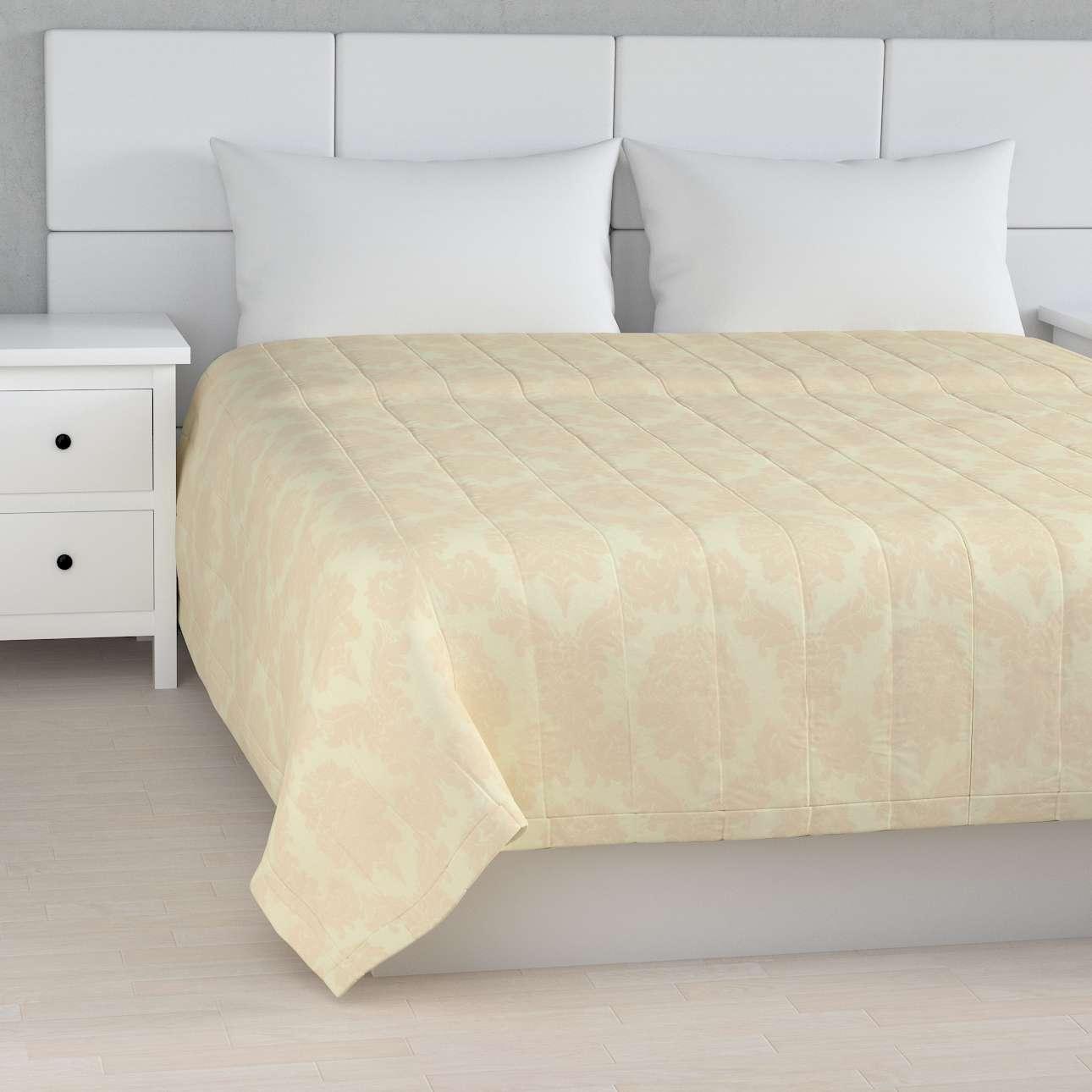 Sengetæppe quiltet<br/>10cm striber fra kollektionen Damasco, Stof: 613-01