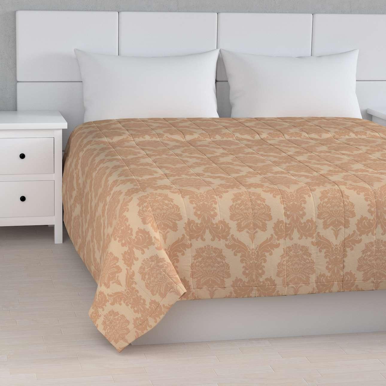 Sengetæppe quiltet<br/>10cm striber fra kollektionen Damasco, Stof: 613-04