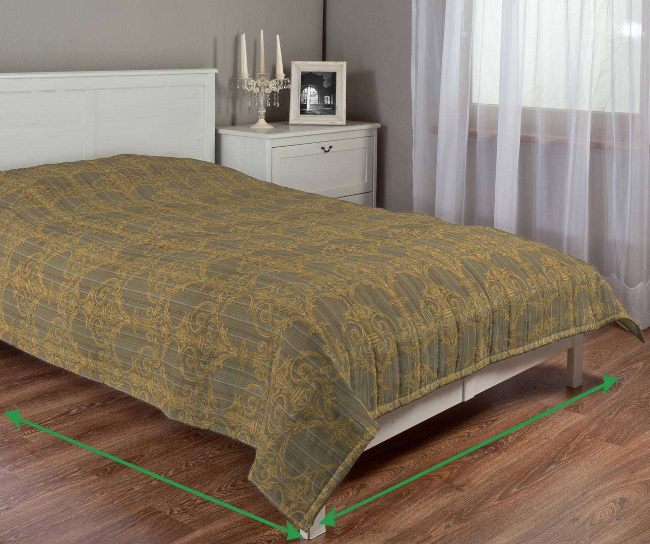 Quilted throw (vertical quilt pattern) in collection Odisea, fabric: 412-53