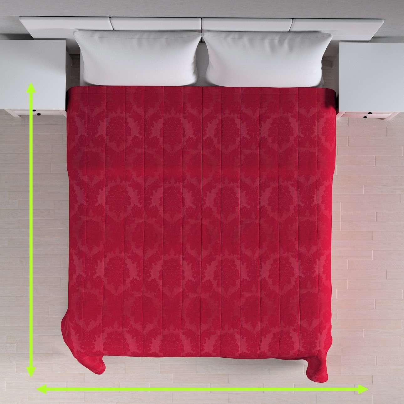 Quilted throw (vertical quilt pattern) in collection Damasco, fabric: 613-13