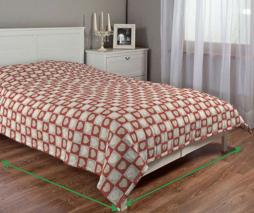 Quilted throw (vertical quilt pattern) in collection Christmas, fabric: 629-16