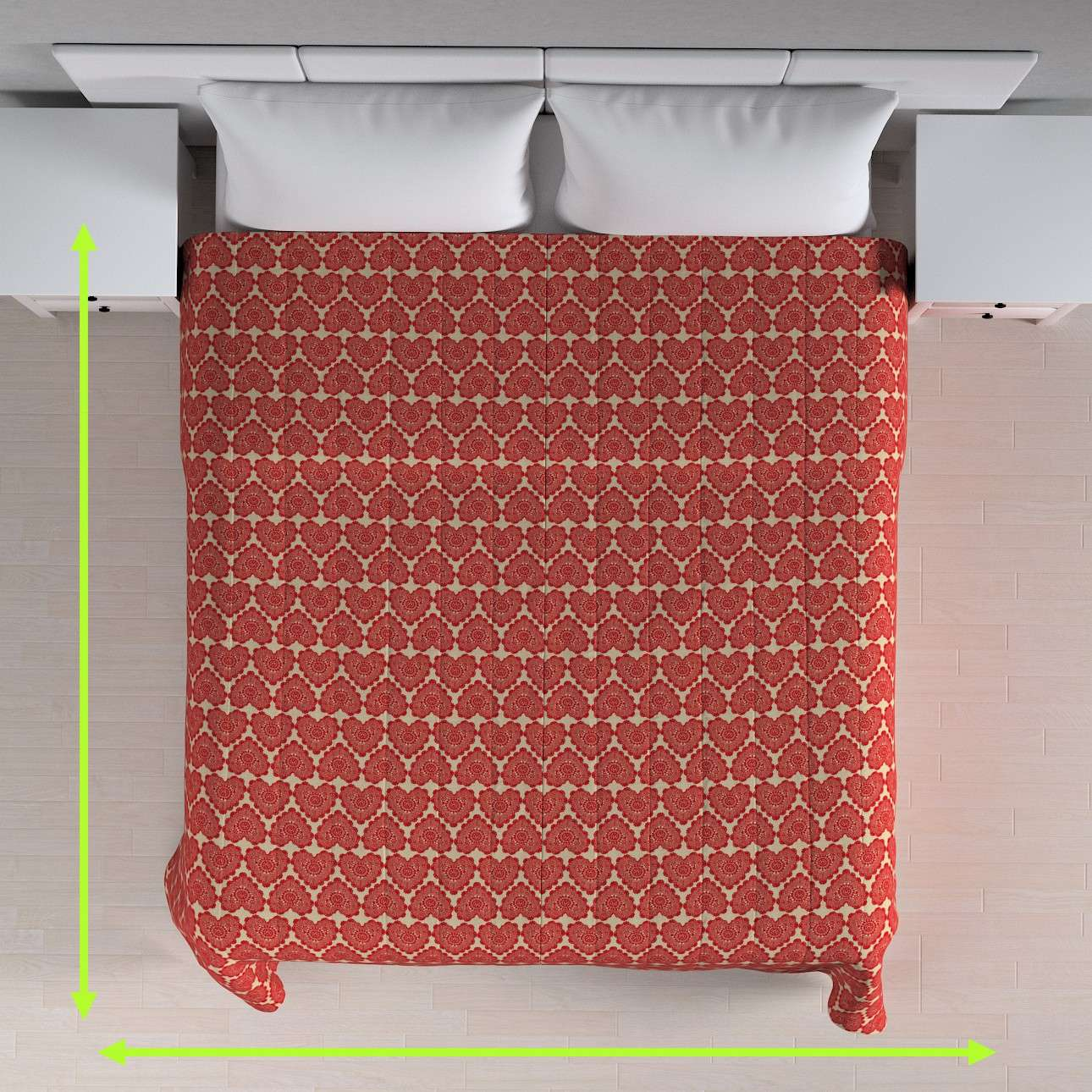 Quilted throw (vertical quilt pattern) in collection Freestyle, fabric: 629-17