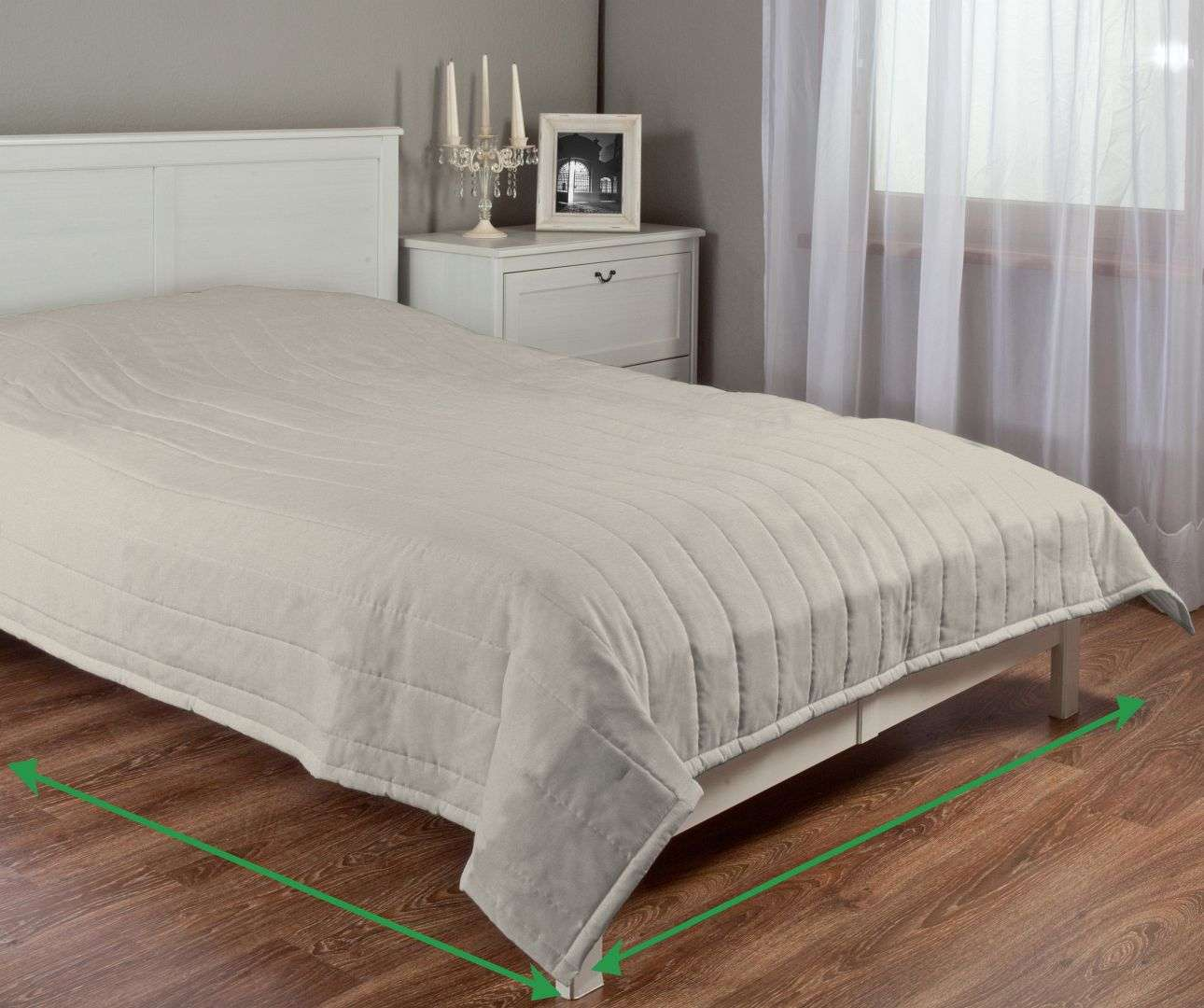 Stripe quilted throw in collection Vintage, fabric: 702-39