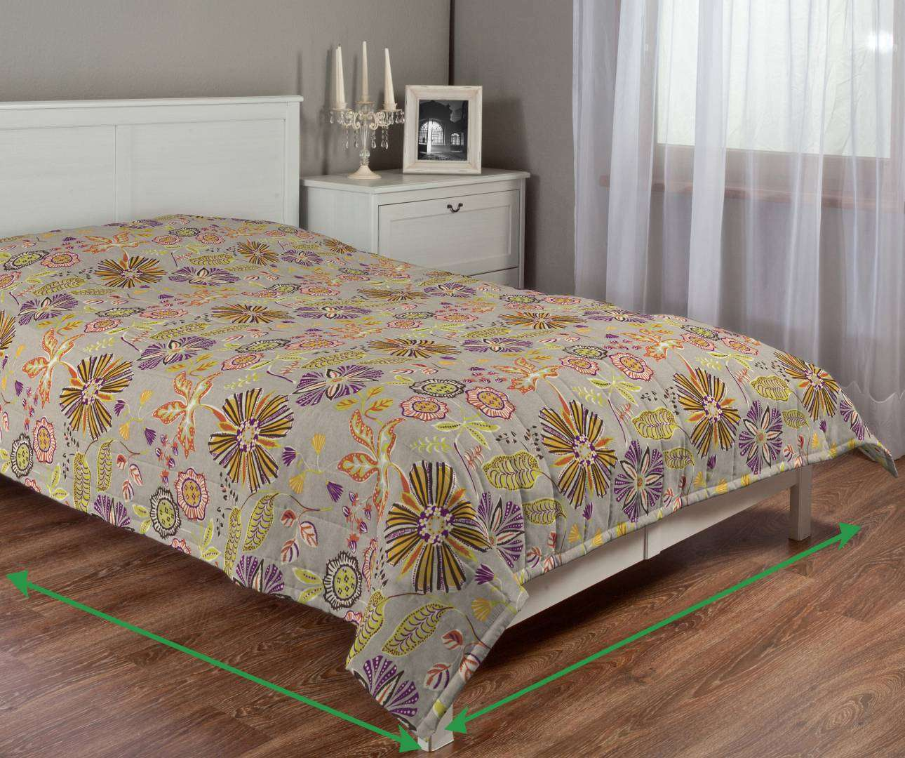 Quilted throw (vertical quilt pattern) in collection Etna, fabric: 705-11