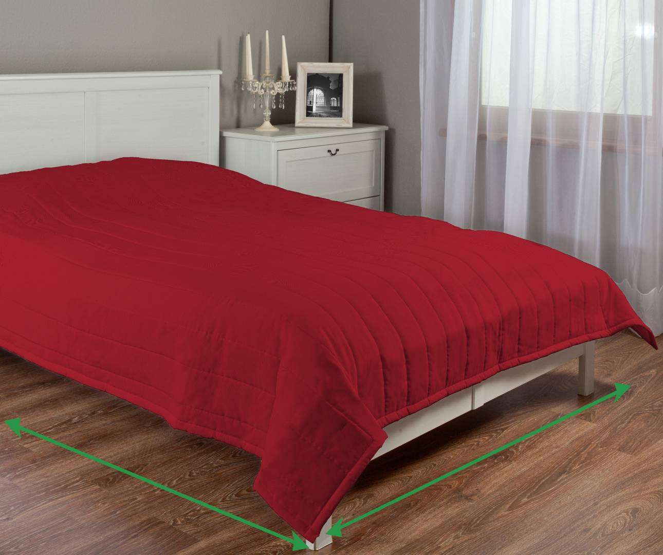 Stripe quilted throw in collection Etna, fabric: 705-60