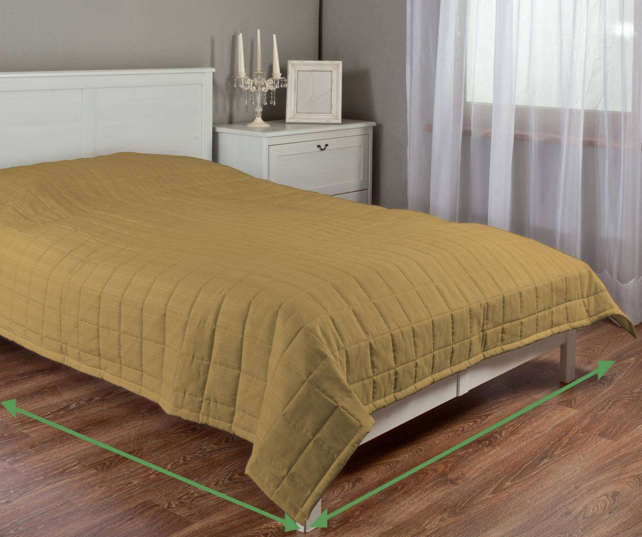 Quilted throw (check quilt pattern) in collection Taffeta , fabric: 103-85