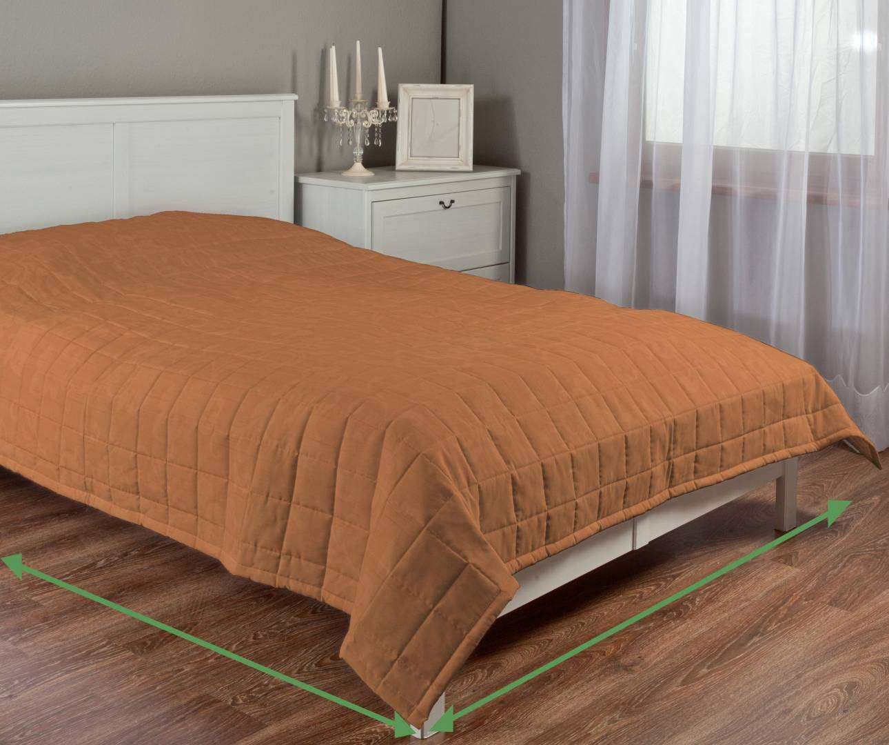 Quilted throw (check quilt pattern) in collection Taffeta, fabric: 103-98