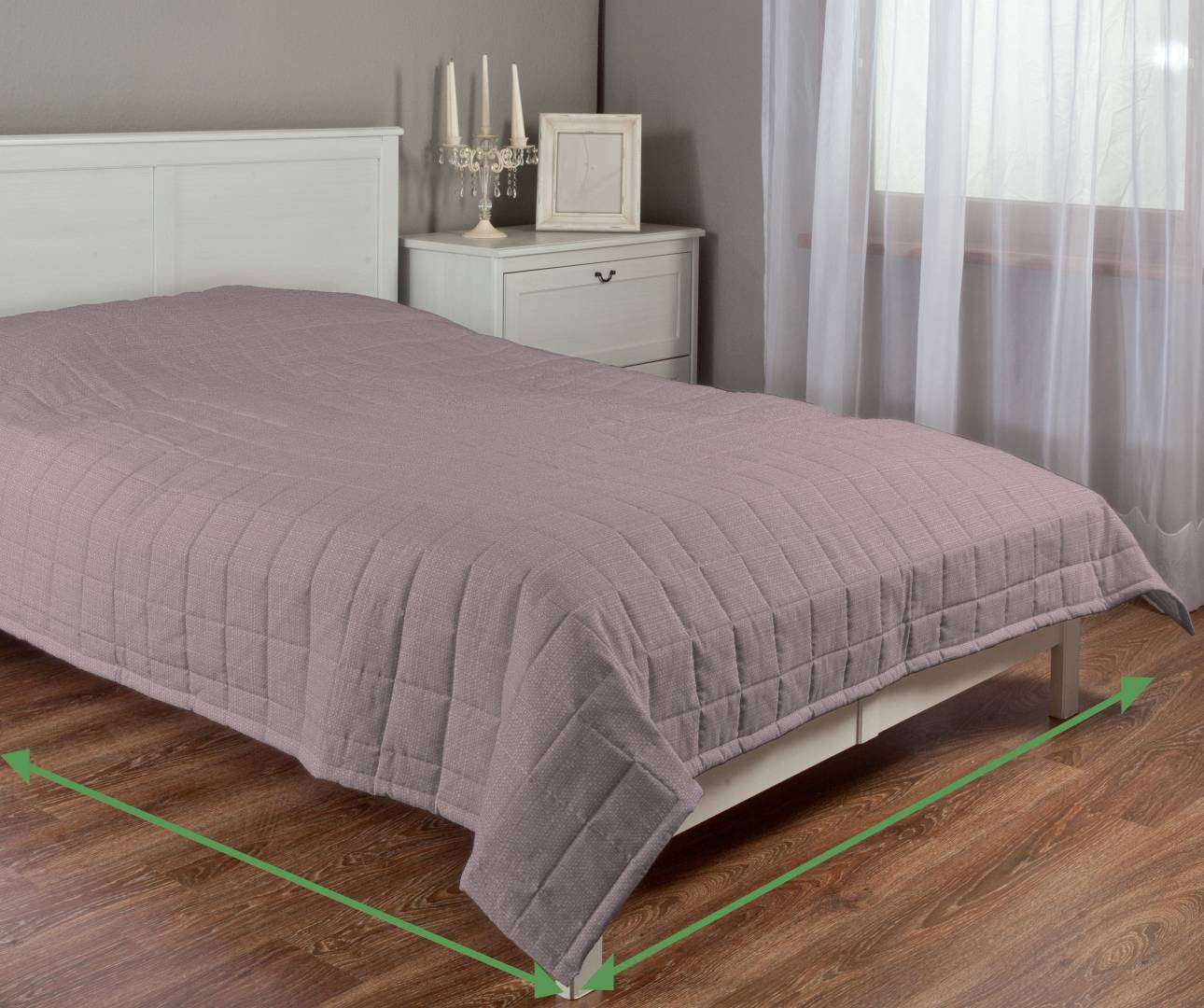 Check quilted throw in collection Granada, fabric: 104-75