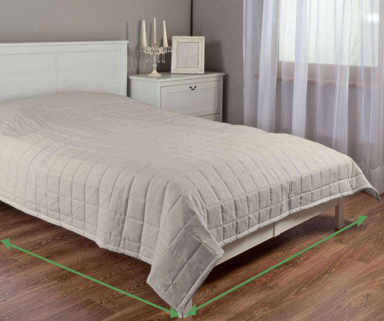 Check quilted throw in collection Granada, fabric: 104-89