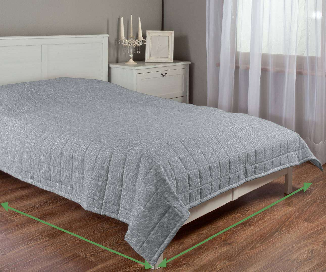 Check quilted throw in collection Granada, fabric: 104-90