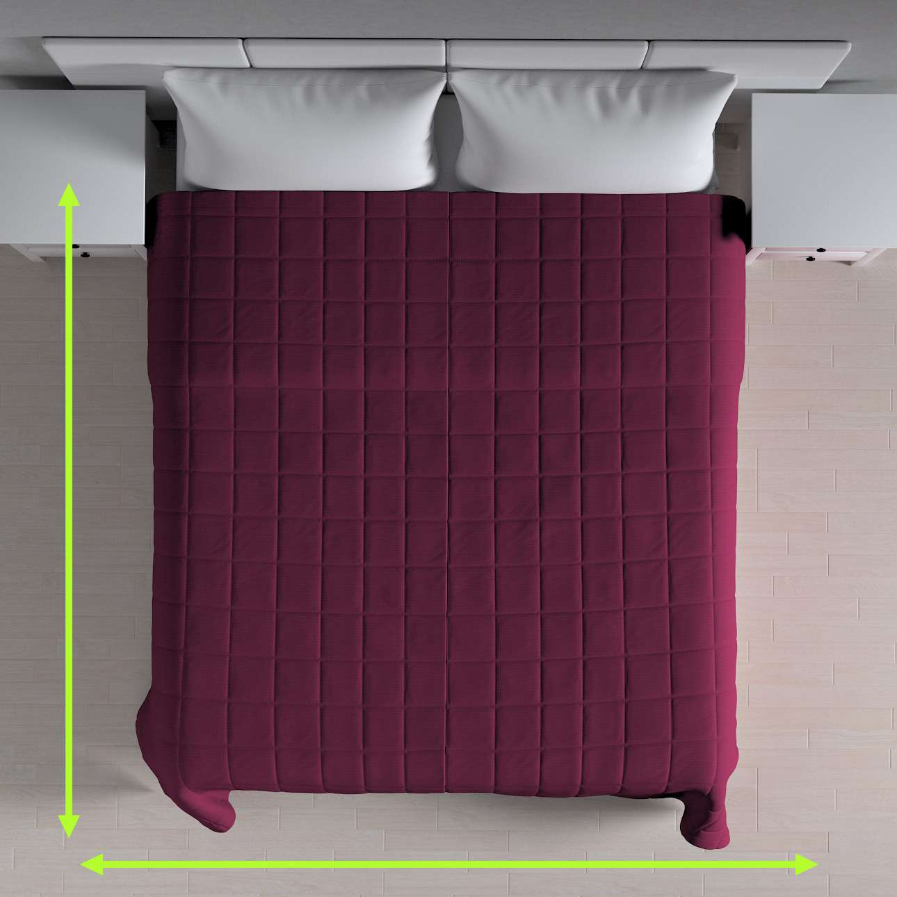 Check quilted throw in collection Jupiter, fabric: 127-20