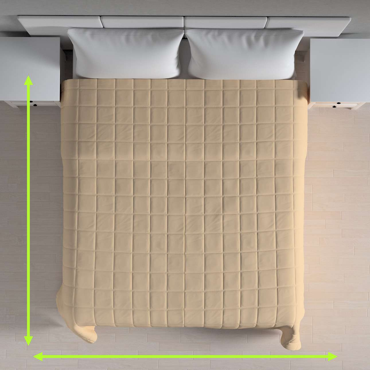 Quilted throw (check quilt pattern) in collection Loneta , fabric: 133-04