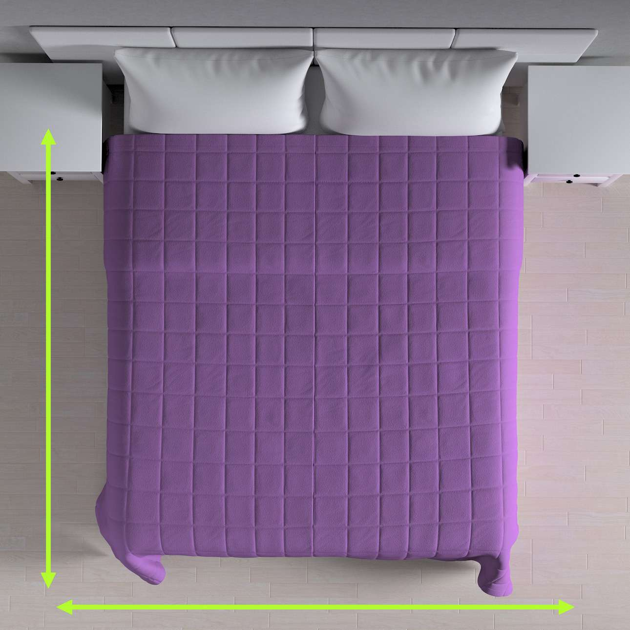 Quilted throw (check quilt pattern) in collection Loneta , fabric: 133-19