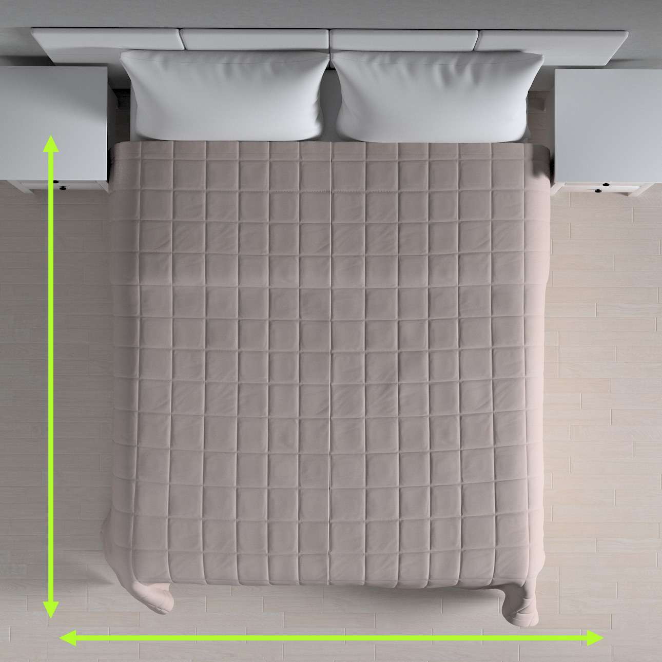 Quilted throw (check quilt pattern) in collection Loneta , fabric: 133-24
