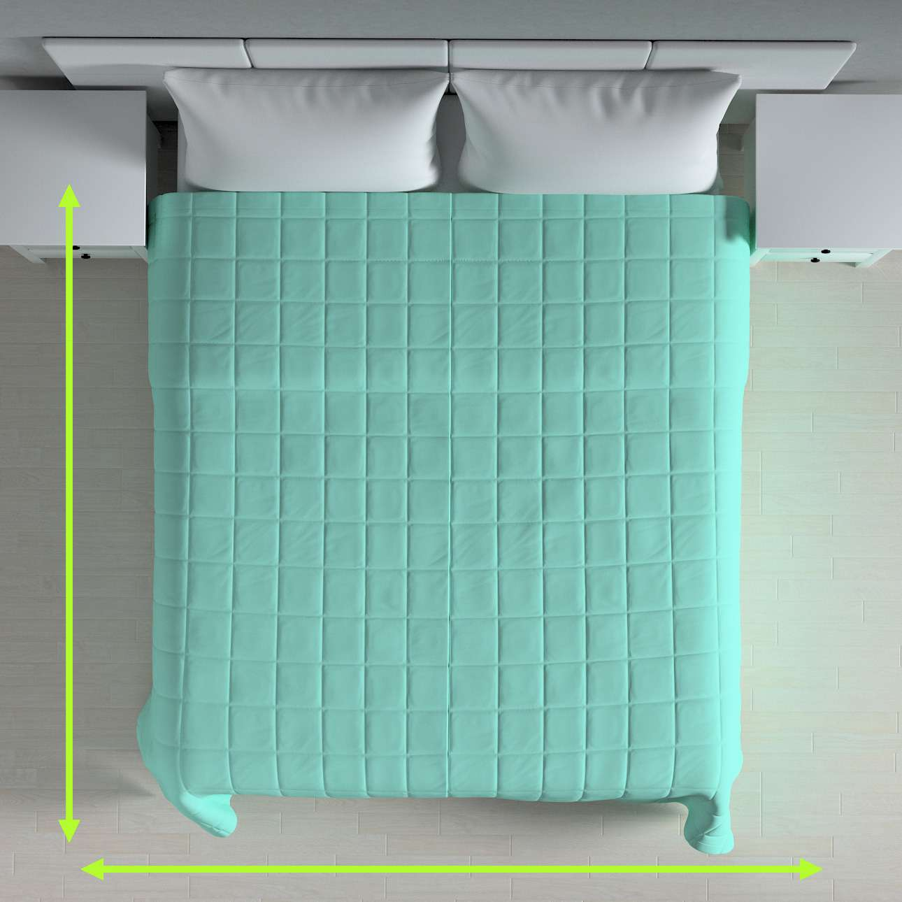 Quilted throw (check quilt pattern) in collection Loneta , fabric: 133-32