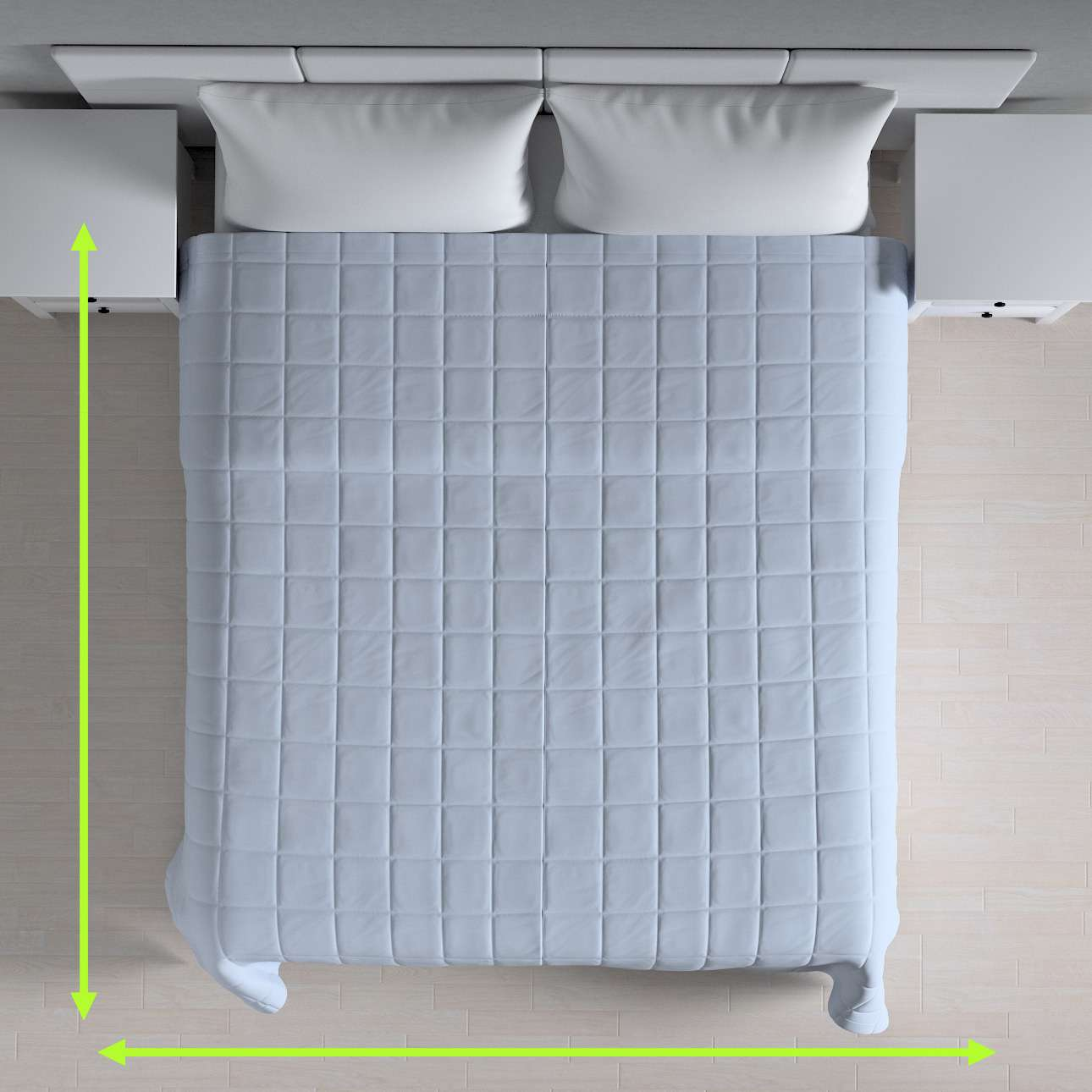 Quilted throw (check quilt pattern) in collection Loneta , fabric: 133-35