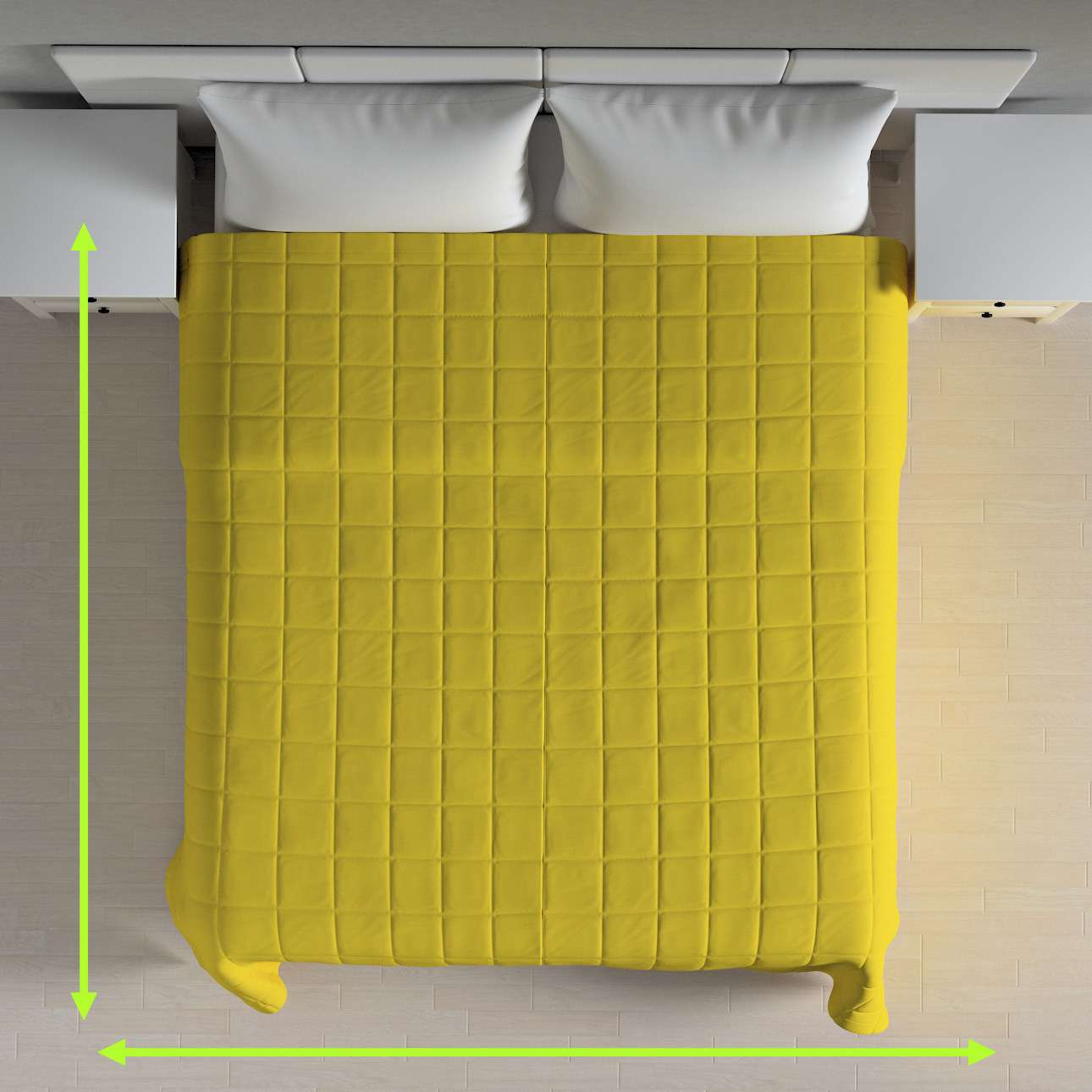 Quilted throw (check quilt pattern) in collection Loneta , fabric: 133-55