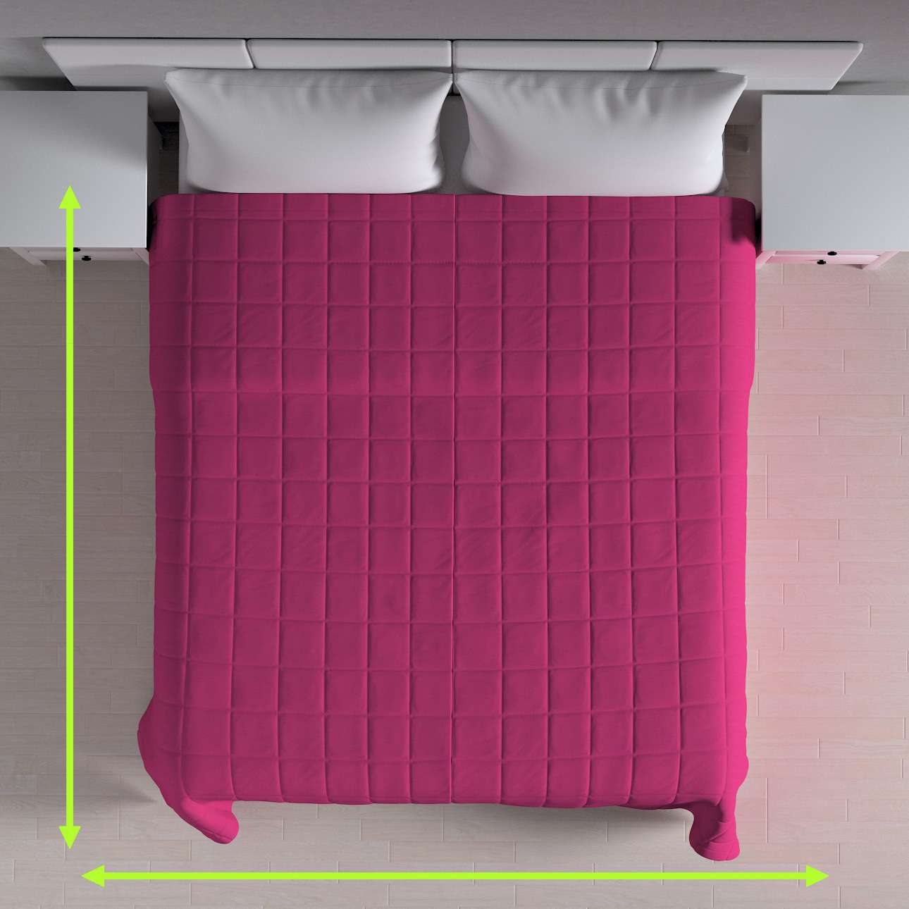 Quilted throw (check quilt pattern) in collection Loneta , fabric: 133-60