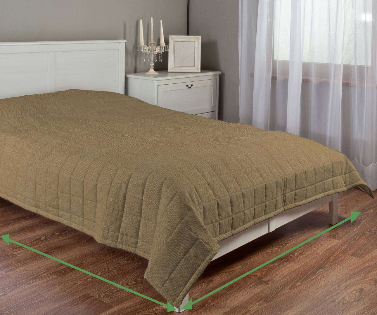 Check quilted throw in collection Etna, fabric: 705-06
