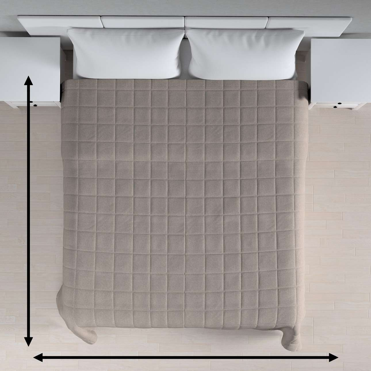 Check quilted throw in collection Etna, fabric: 705-09