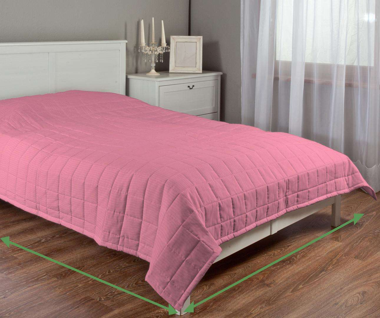 Quilted throw (check quilt pattern) in collection Milano, fabric: 150-22
