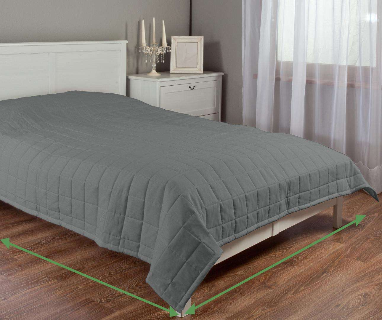 Quilted throw (check quilt pattern) in collection Milano, fabric: 150-28
