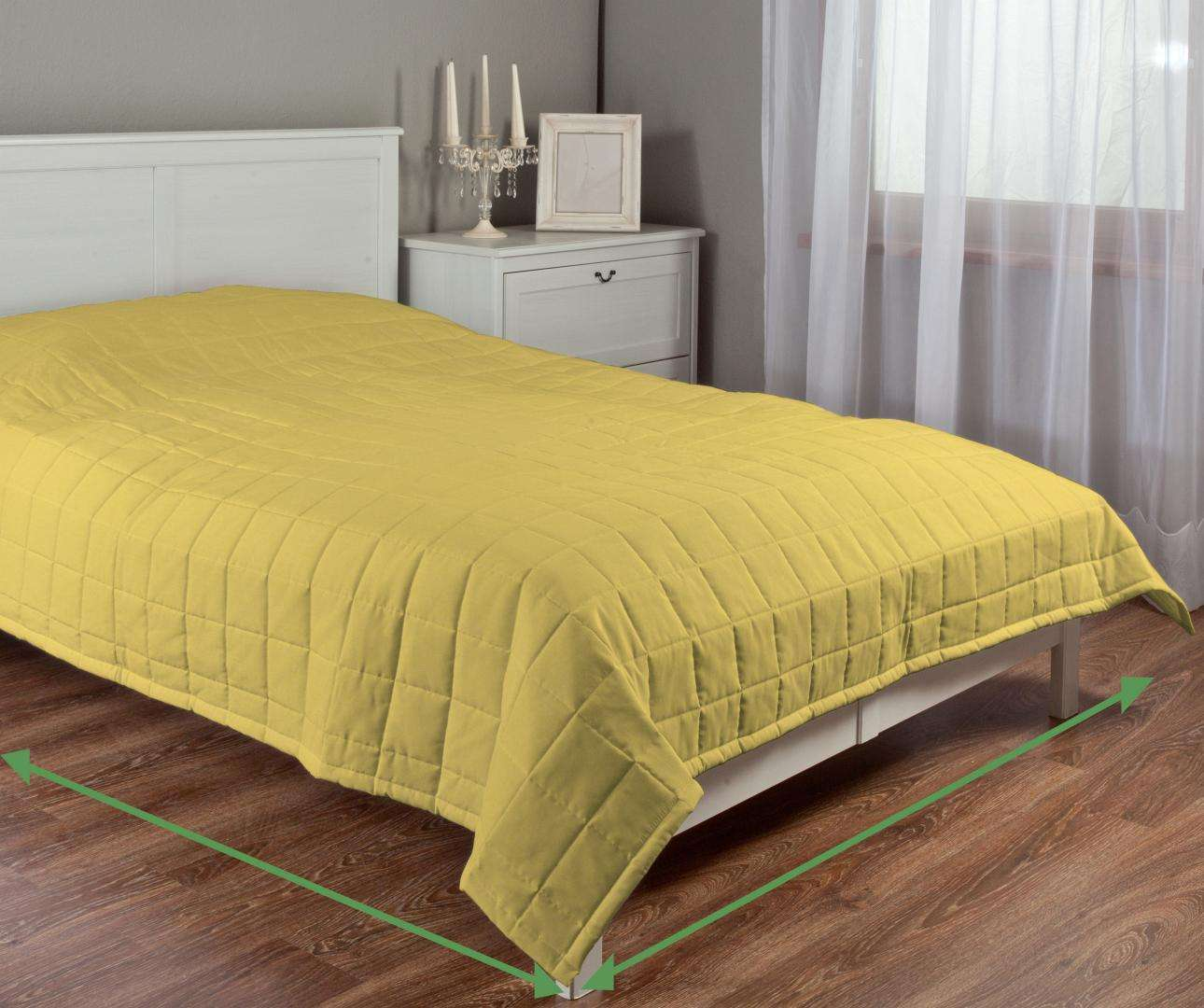 Quilted throw (check quilt pattern) in collection Milano, fabric: 150-34
