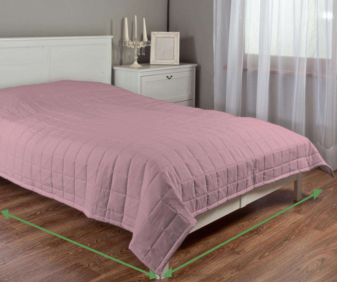 Quilted throw (check quilt pattern) in collection Milano, fabric: 150-35