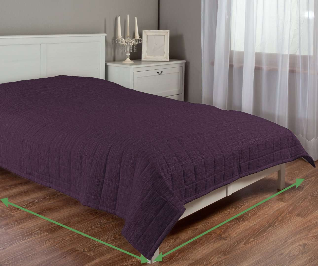Quilted throw (check quilt pattern) in collection Chenille, fabric: 160-46