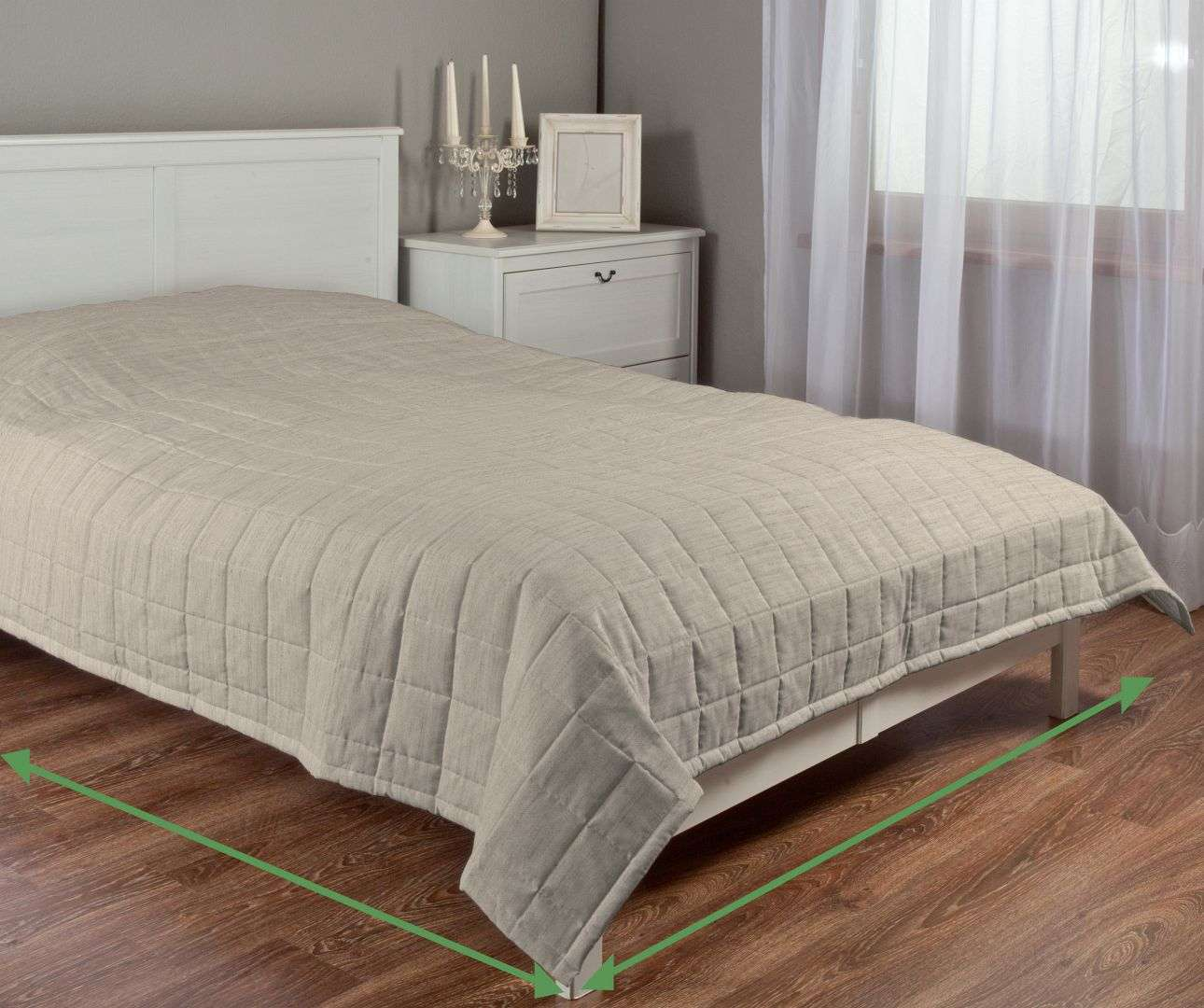 Check quilted throw in collection Porto, fabric: 160-56