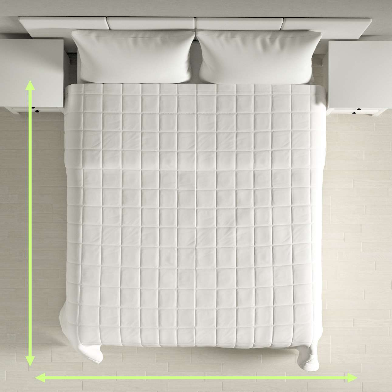 Check quilted throw in collection Panama Cotton, fabric: 702-34