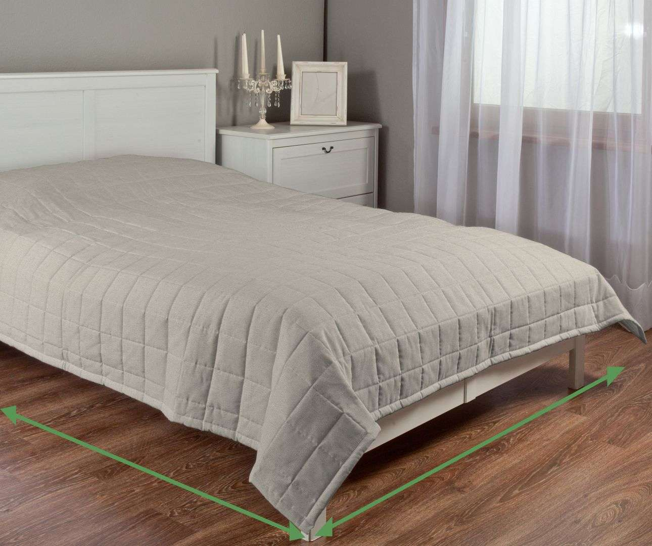 Check quilted throw in collection Vintage, fabric: 702-39
