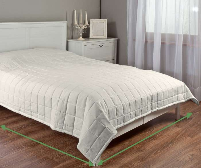 Chequered quilted bedspread in collection Nature, fabric: 392-04
