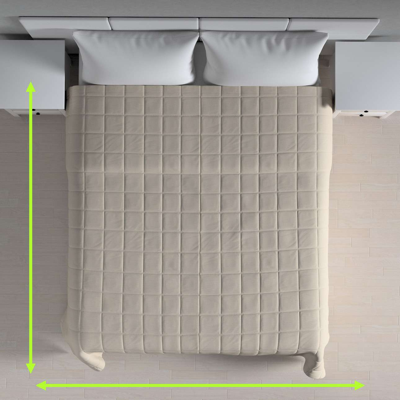 Check quilted throw in collection Linen, fabric: 392-05