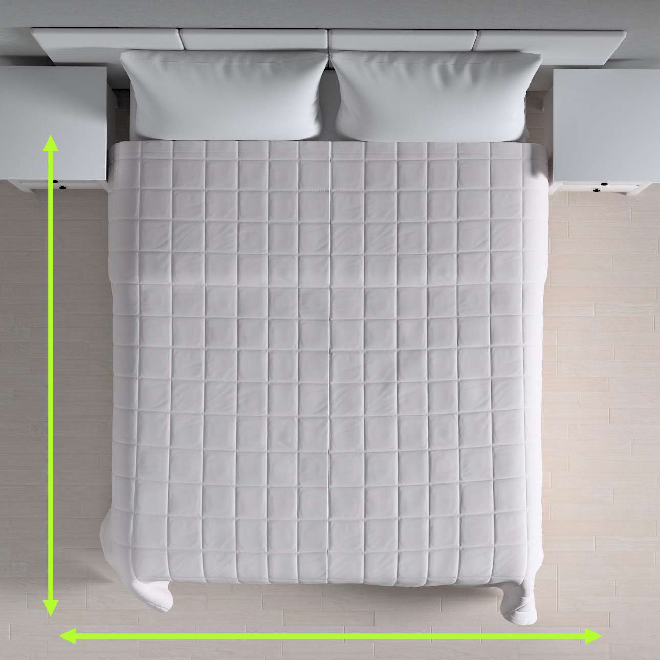 Quilted throw (check quilt pattern) in collection Cotton Panama, fabric: 702-00